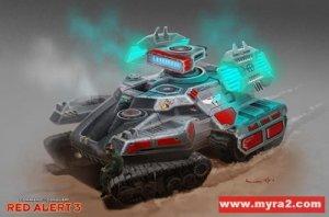 红色警报3盟军单位介绍: 幻影坦克