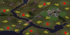 红色警戒2巨大的山脉8人大地图